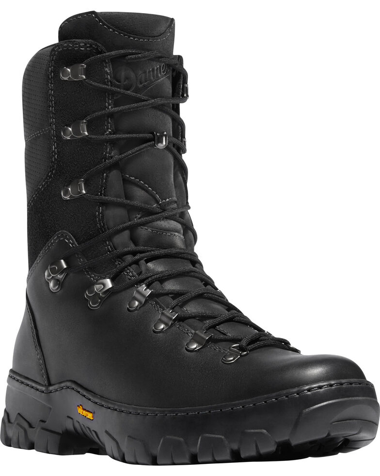 "Danner Men's Black Wildland Tactical Firefighter 8"" Boots - Round Toe, Black, hi-res"
