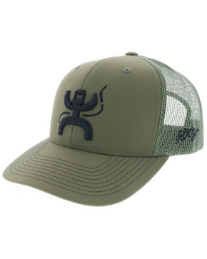 HOOey Men's Olive Arc Oil Welder Embroidered Trucker Cap , Olive, hi-res