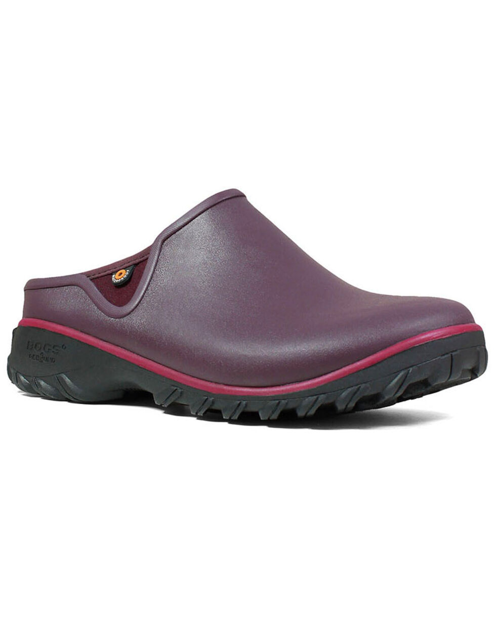 Bogs Women's Sauvie Clog Shoes - Round Toe, Wine, hi-res