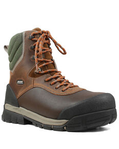 Bogs Men's Bedrock Lace-Up Work Boots - Composite Toe, Brown, hi-res