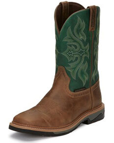Justin Men's Stampede Bolt Composite Toe Work Boots, Tan, hi-res