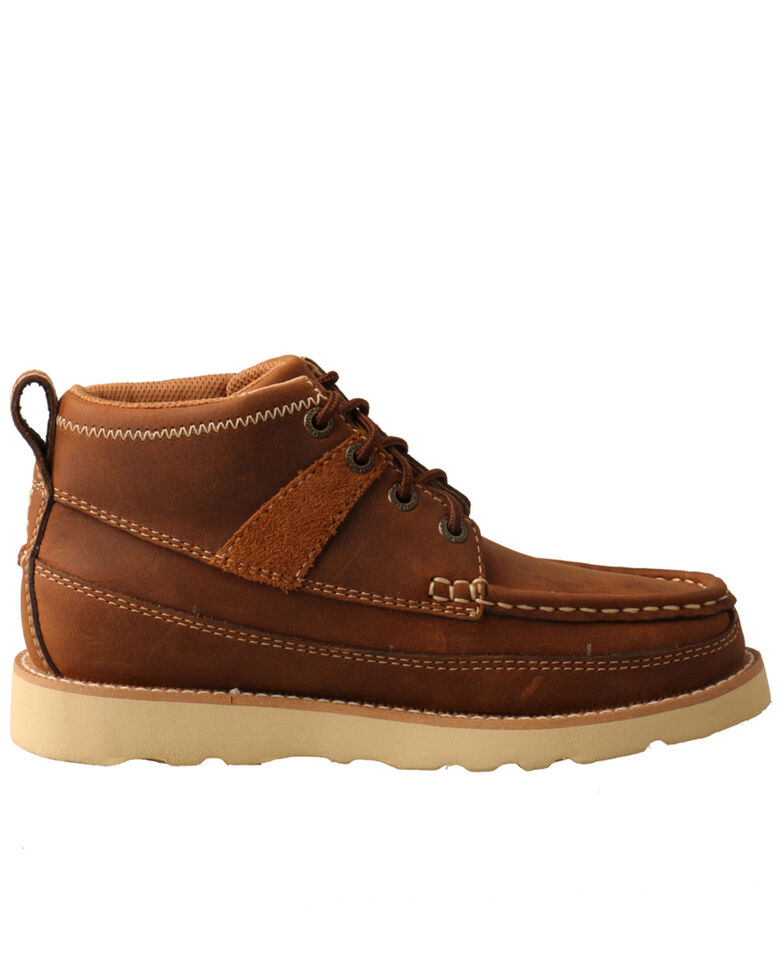 Twisted X Youth Boys' Wedge Sole Work Boots - Soft Toe, Brown, hi-res