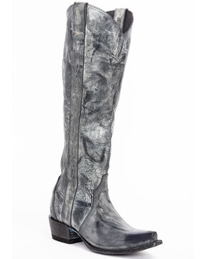 Idyllwind Women's Warrior Western Boots - Snip Toe, Black, hi-res