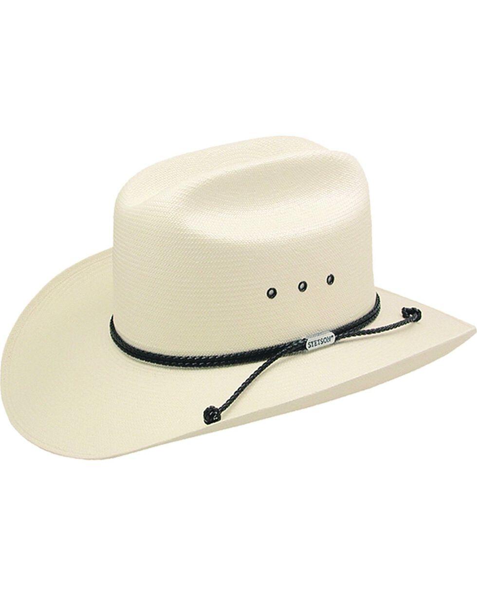 Stetson Carson 10X Shantung Straw Cowboy Hat, Natural, hi-res