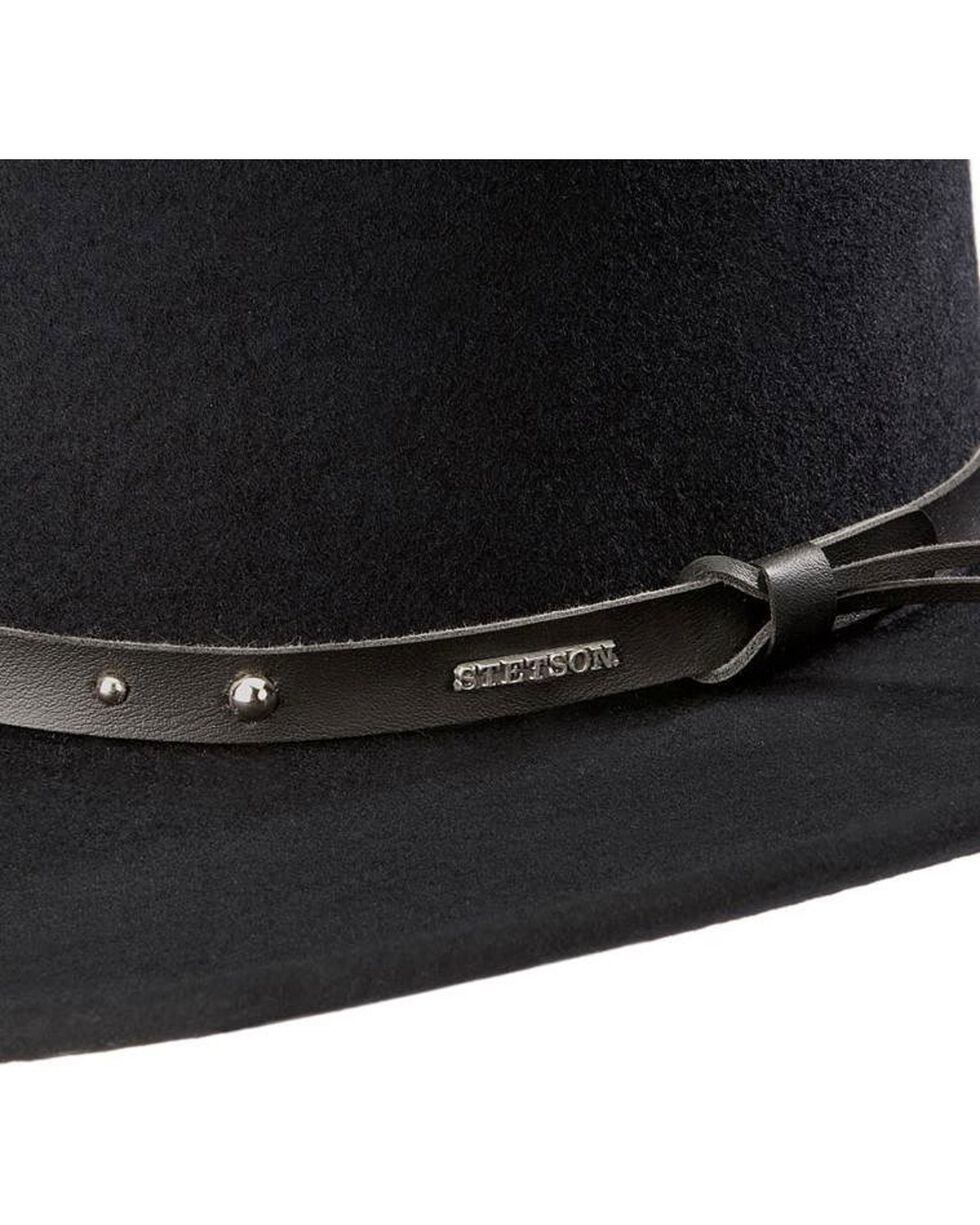 Stetson Black Hawk Crushable Wool Hat, Black, hi-res