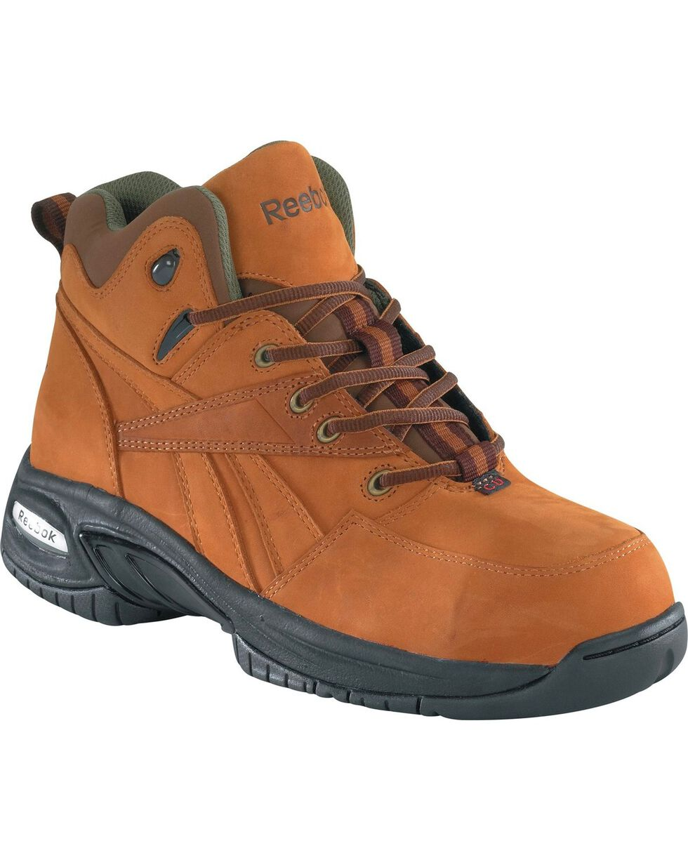 Reebok Women's Tyak Hiking Work Boots - Composite Toe, Brown, hi-res
