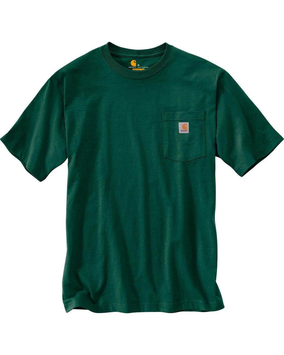 Carhartt Short Sleeve Pocket Work T-Shirt, Green, hi-res