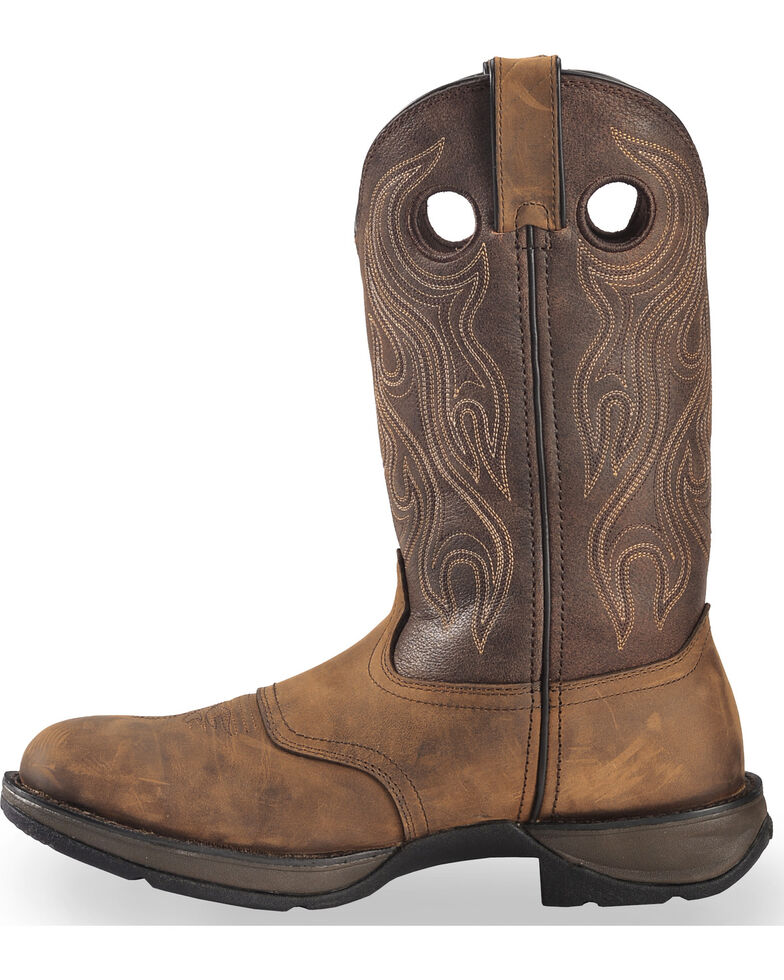 Durango Men's Rebel Saddle Western Boots, Bark, hi-res