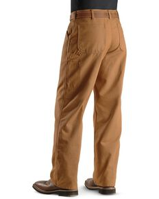 Carhartt Weathered Duck Dungaree Fit Khaki Work Pants, Brown, hi-res