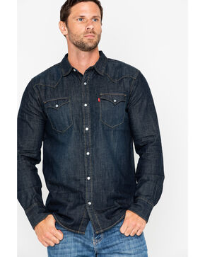 Levi's Men's Boulder Denim Long Sleeve Western Shirt , Black, hi-res