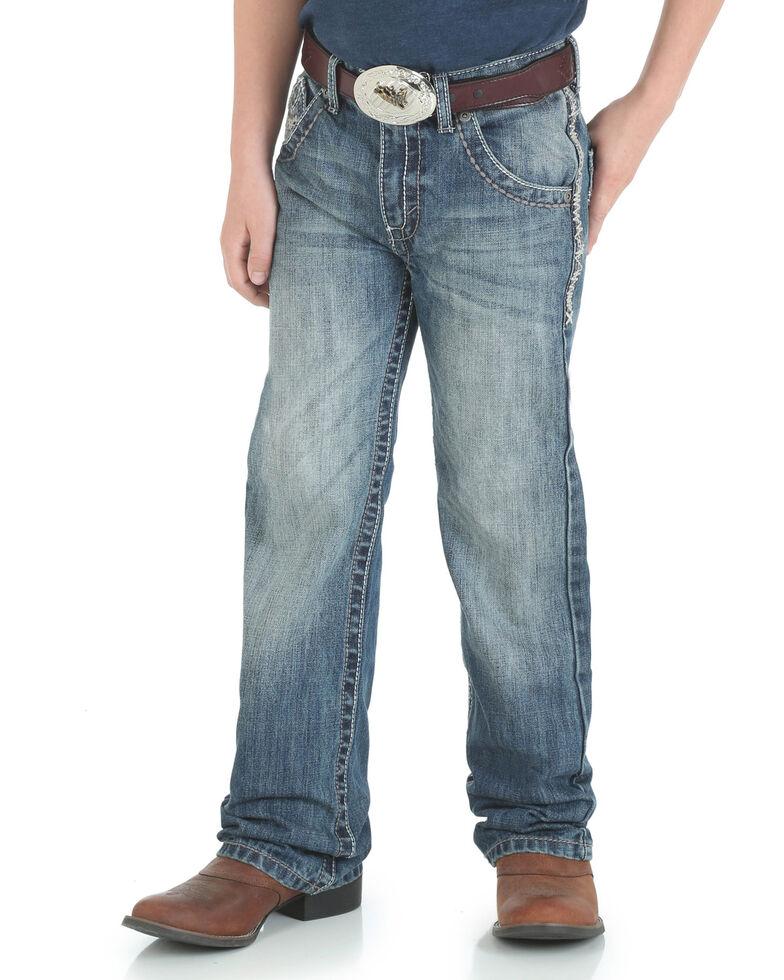 Wrangler 20X Boys' No. 42 Vintage Low Slim Boot Jeans , Blue, hi-res