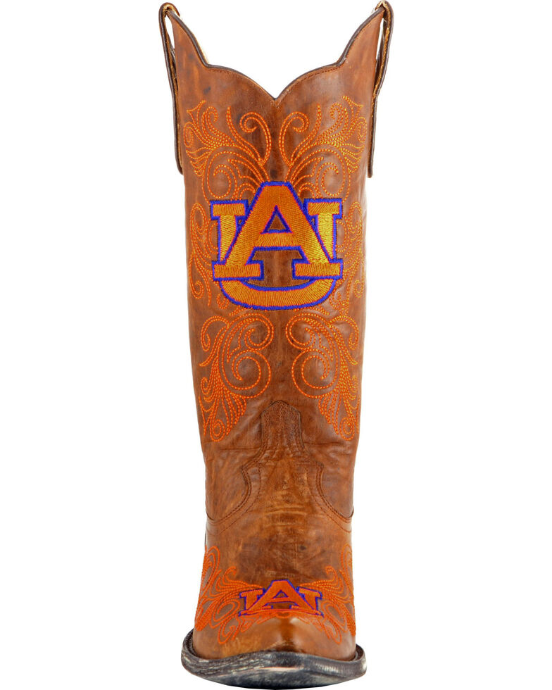 Gameday Women's Auburn University Cowgirl Boots - Pointed Toe, Brass, hi-res