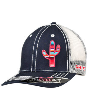 Ariat Women's Cactus Trucker Cap, Navy, hi-res