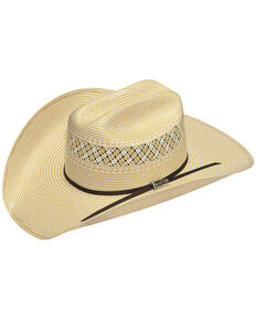 Twister Men's 10X Shantung Straw Cowboy Hat, Wheat, hi-res