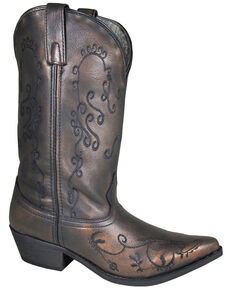 Smoky Mountain Women's Harlow Western Boots - Snip Toe, Bronze, hi-res