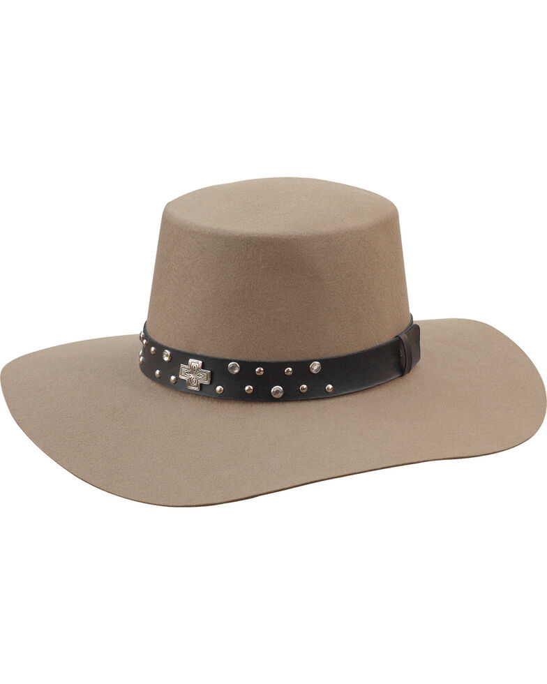 Silverado Women's Belle Silver Belly Flat Top Hat , Silver Belly, hi-res