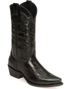 Laredo Men's Hawk Western Boots, Black, hi-res