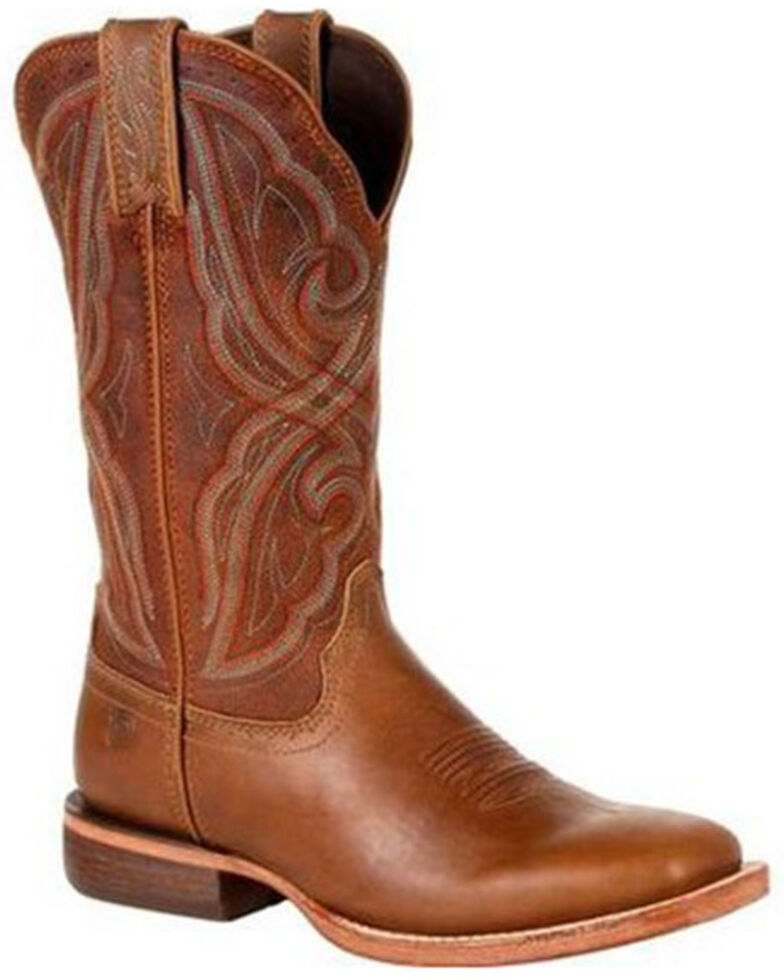 Durango Women's Areno Pro Western Boots - Wide Square Toe, Tan, hi-res