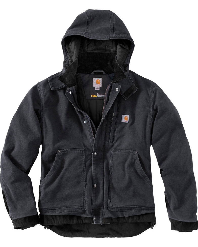 Carhartt Men's Full Swing Caldwell Work Jacket, Shadow Black, hi-res