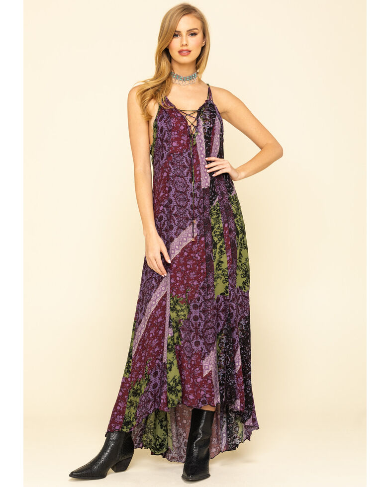 Free People Women's Work of Art Printed Maxi Dress, Black, hi-res