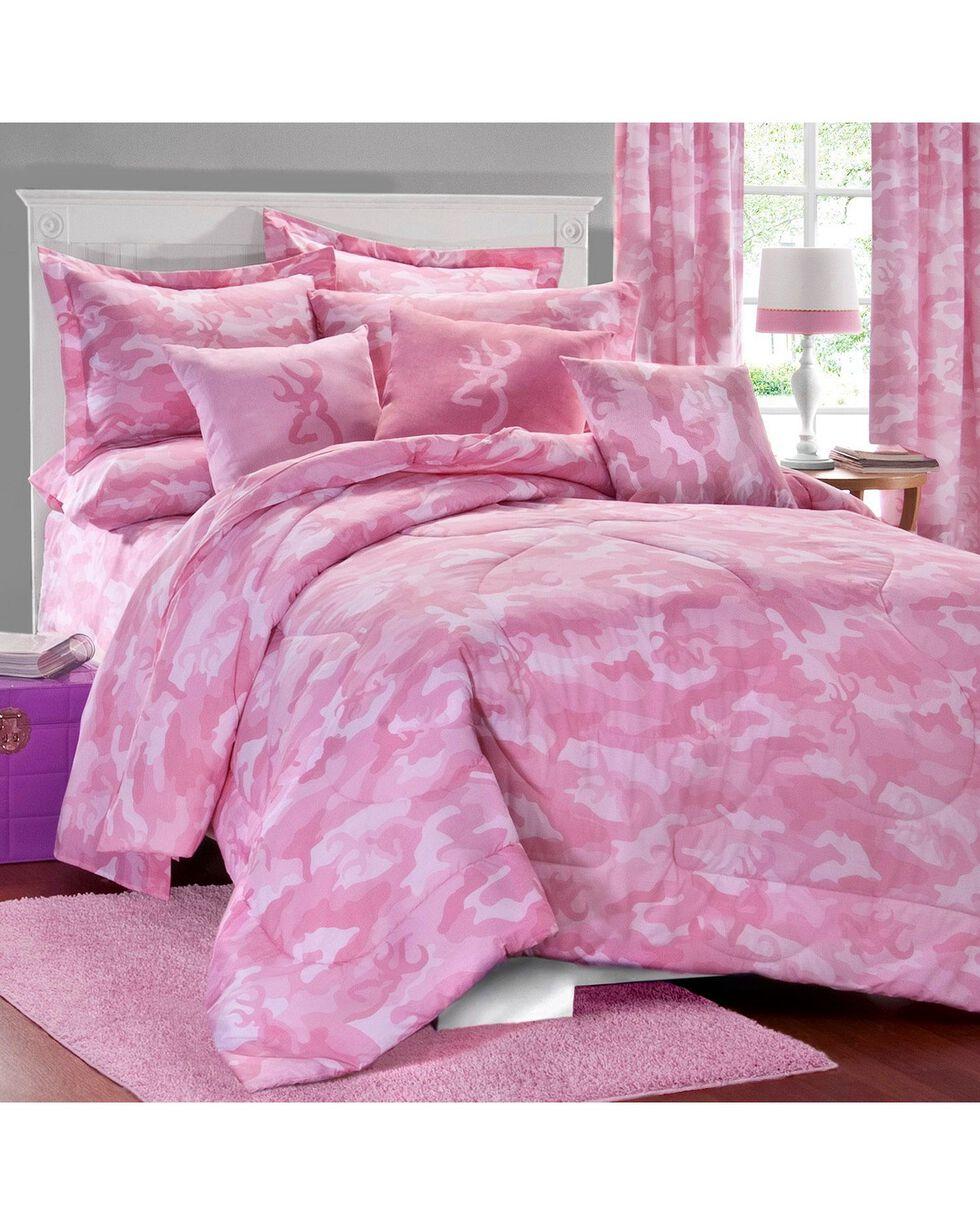Browning Pink Buckcamo Twin Comforter Set, Pink, hi-res