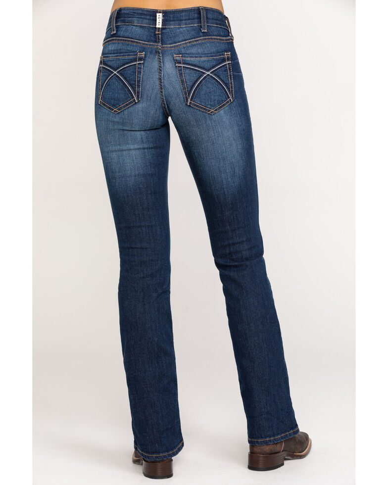 Ariat Women's Dark R.E.A.L. Bootcut Jeans , Blue, hi-res