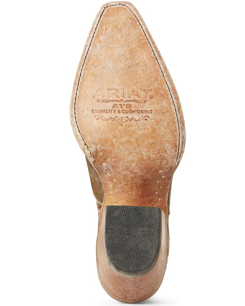 Ariat Women's Dixon Distressed Gold Western Booties - Snip Toe, Gold, hi-res