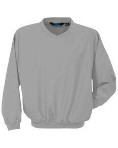 Tri- Mountain Men's Grey 3X  Microfiber Work Wind Jacket - Big , Grey, hi-res