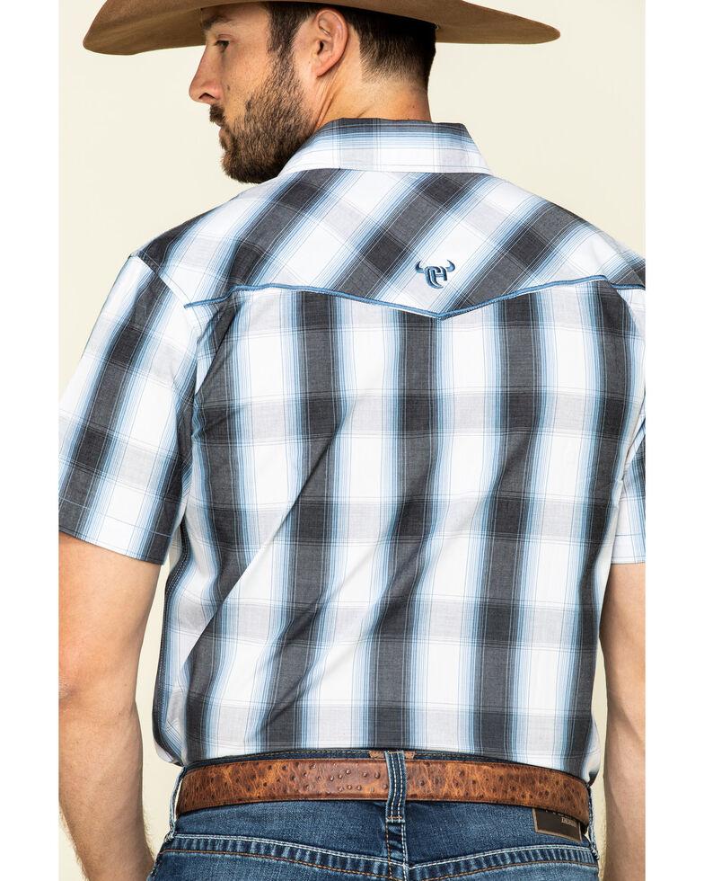 Cowboy Hardware Men's Black Hombre Plaid Short Sleeve Western Shirt , Black, hi-res