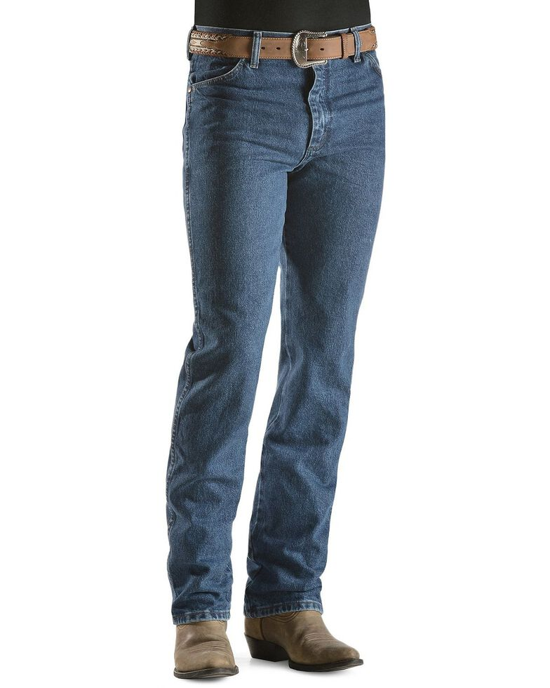 Wrangler Men's 936 Cowboy Cut Slim Fit Prewashed Jeans, Stonewash, hi-res