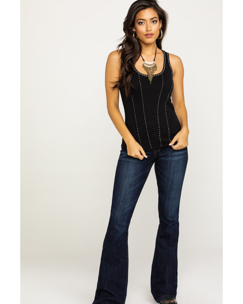 Idyllwind Women's Handle With Care Tank , Black, hi-res