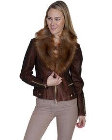 Honey Creek by Scully Women's Faux Fur Copper Jacket, Rust Copper, hi-res