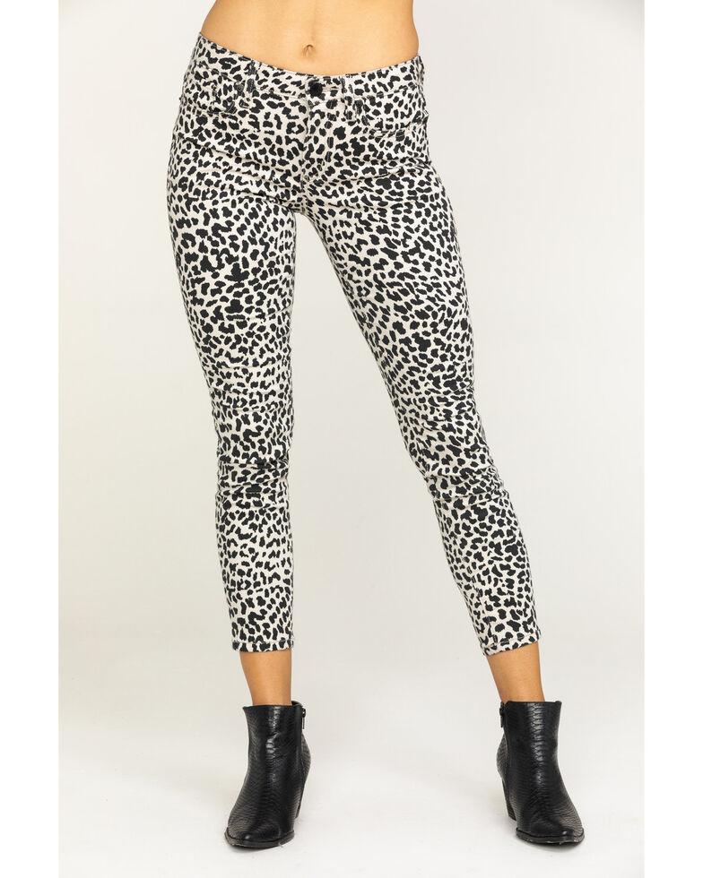 Miss Me Women's Grey Leopard Jeans, Black, hi-res