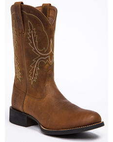 Ariat Men's Sport Stratton Western Boots - Round Toe, Tan, hi-res