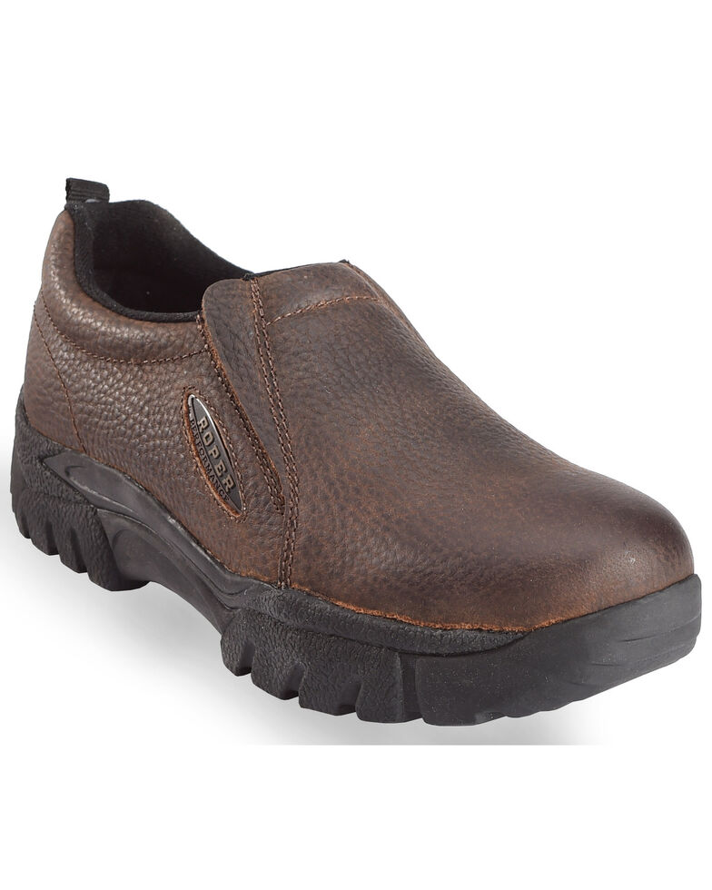Roper Women's Sport Slip-On Shoes, Brown, hi-res