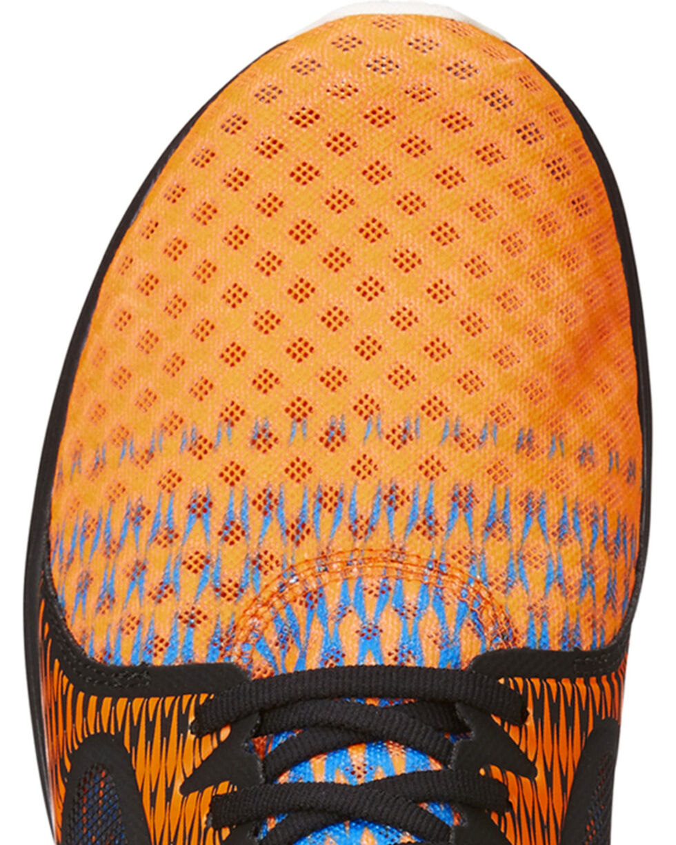 Ariat Men's Orange Ombre Fuse Mesh Shoes , Multi, hi-res