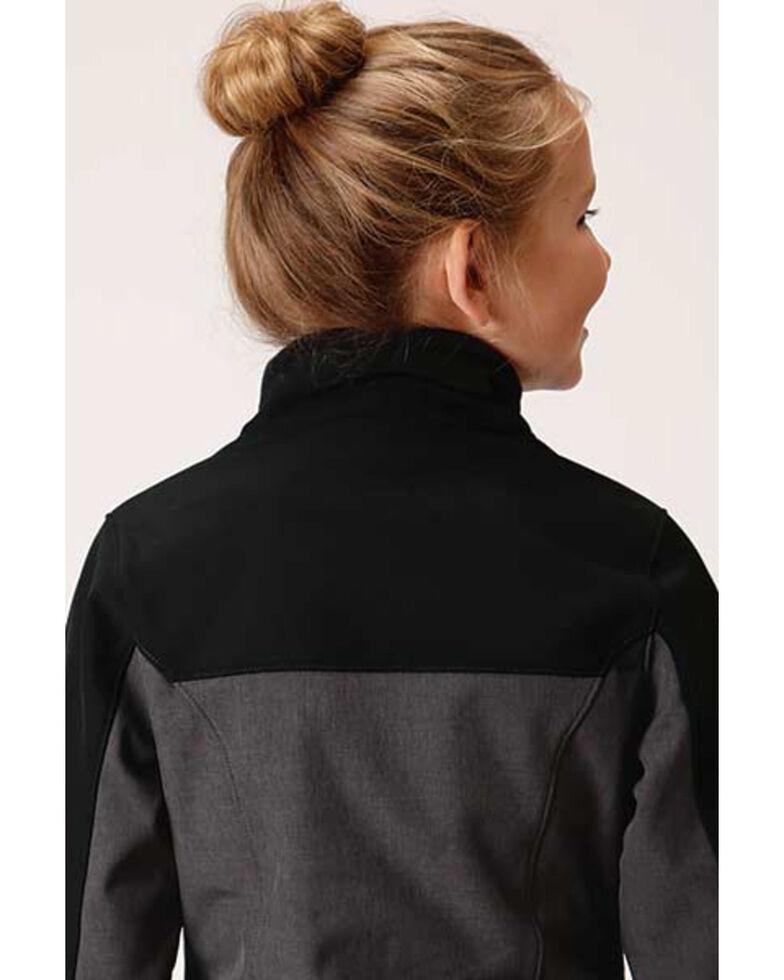 Roper Girls' Charcoal Soft Shell Jacket  , Charcoal, hi-res
