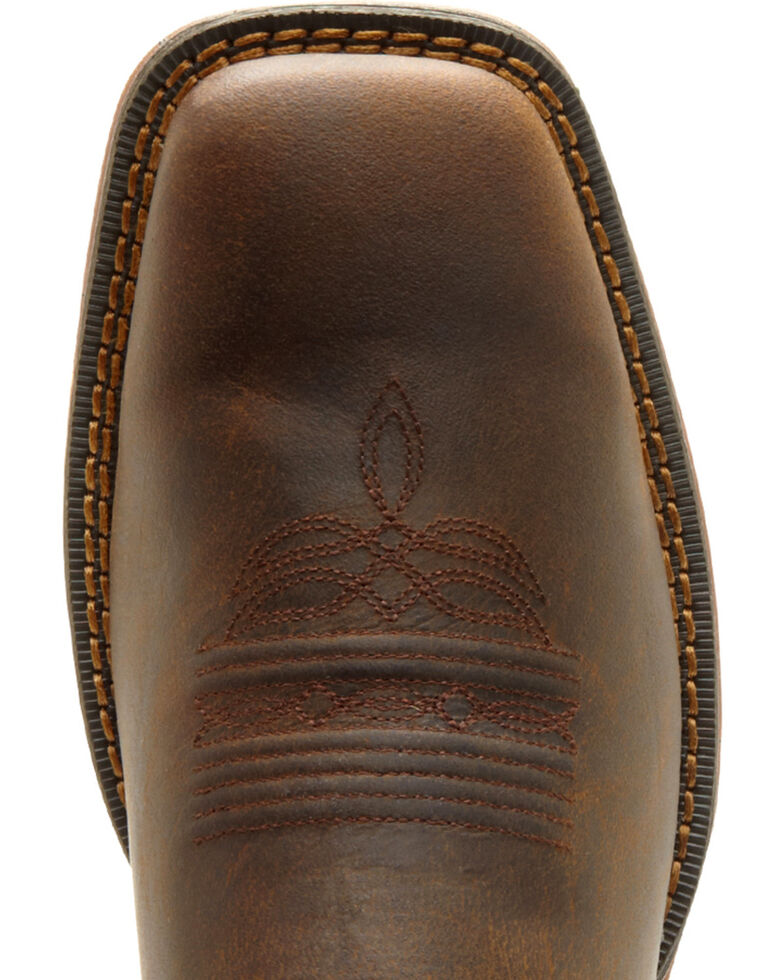 Durango Rebel Men's Coffee & Cactus Western Boots - Square Toe, Coffee, hi-res