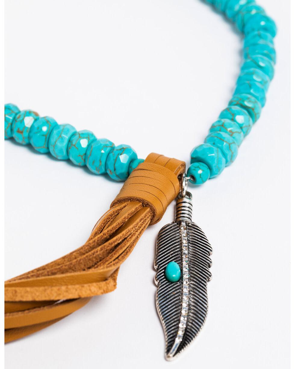 Idyllwind Women's Turquoise Tassel Necklace, Turquoise, hi-res