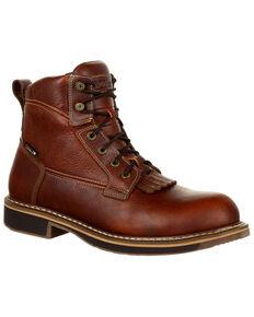 Rocky Men's Cody Waterproof Western Lacer Boots - Round Toe, Dark Brown, hi-res