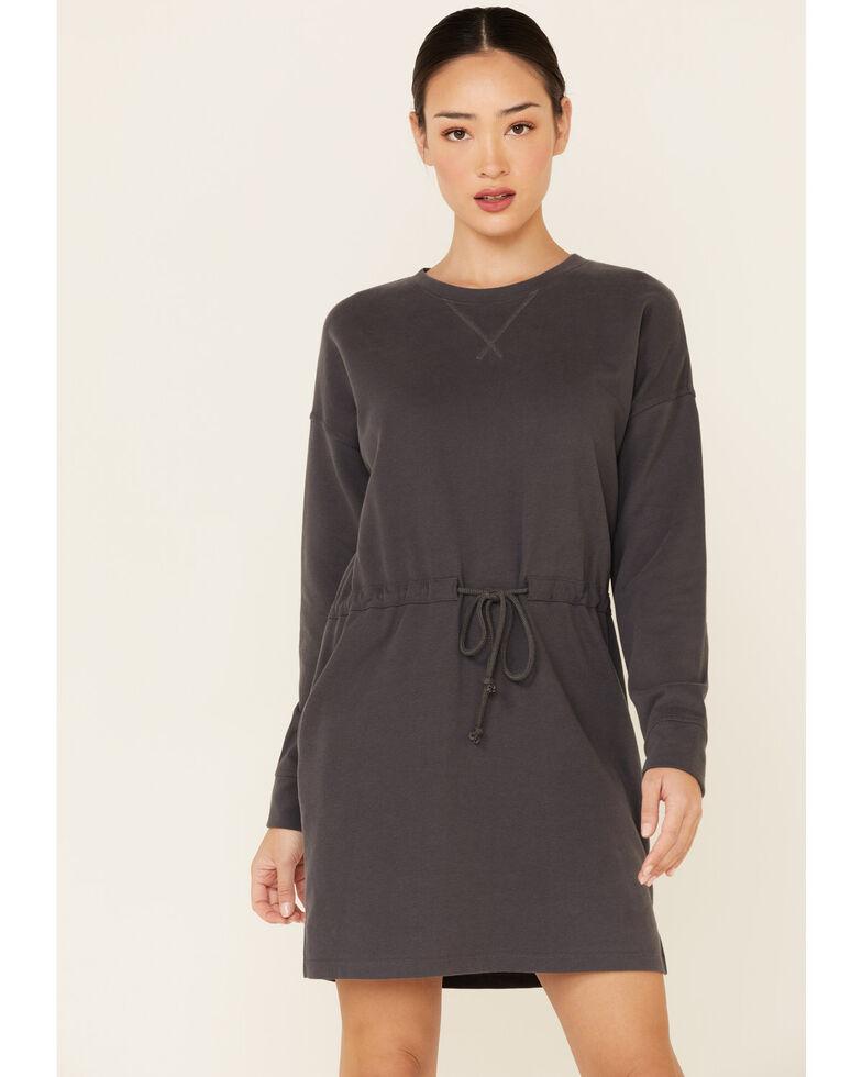 Wishlist Women's Sweatshirt Dress, Charcoal, hi-res