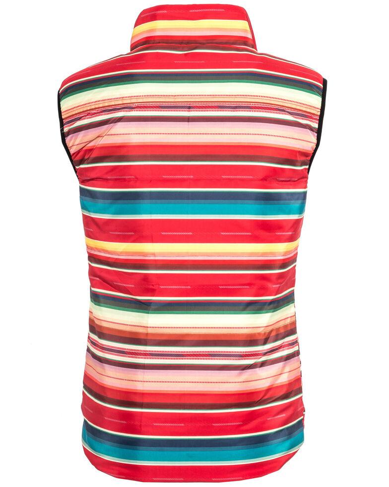STS Ranchwear Women's Sealy Red Serape Micro Puff Vest , Multi, hi-res