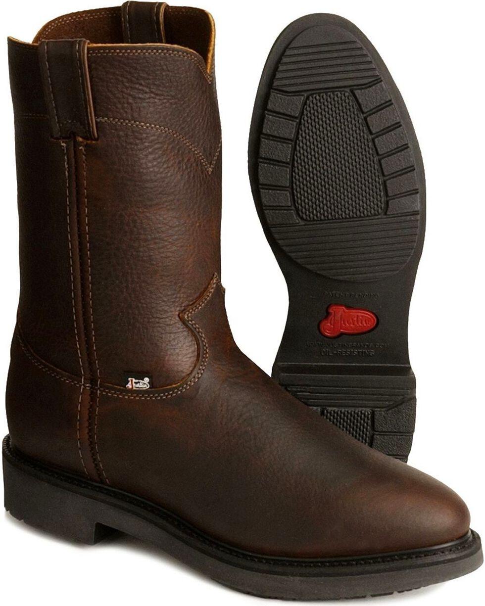 Justin Men's Work Boots, Tobacco, hi-res