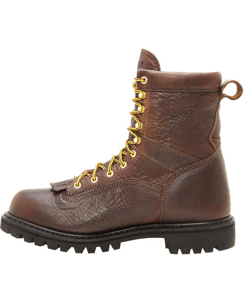Georgia Men's Waterproof Logger Boots, Chocolate, hi-res