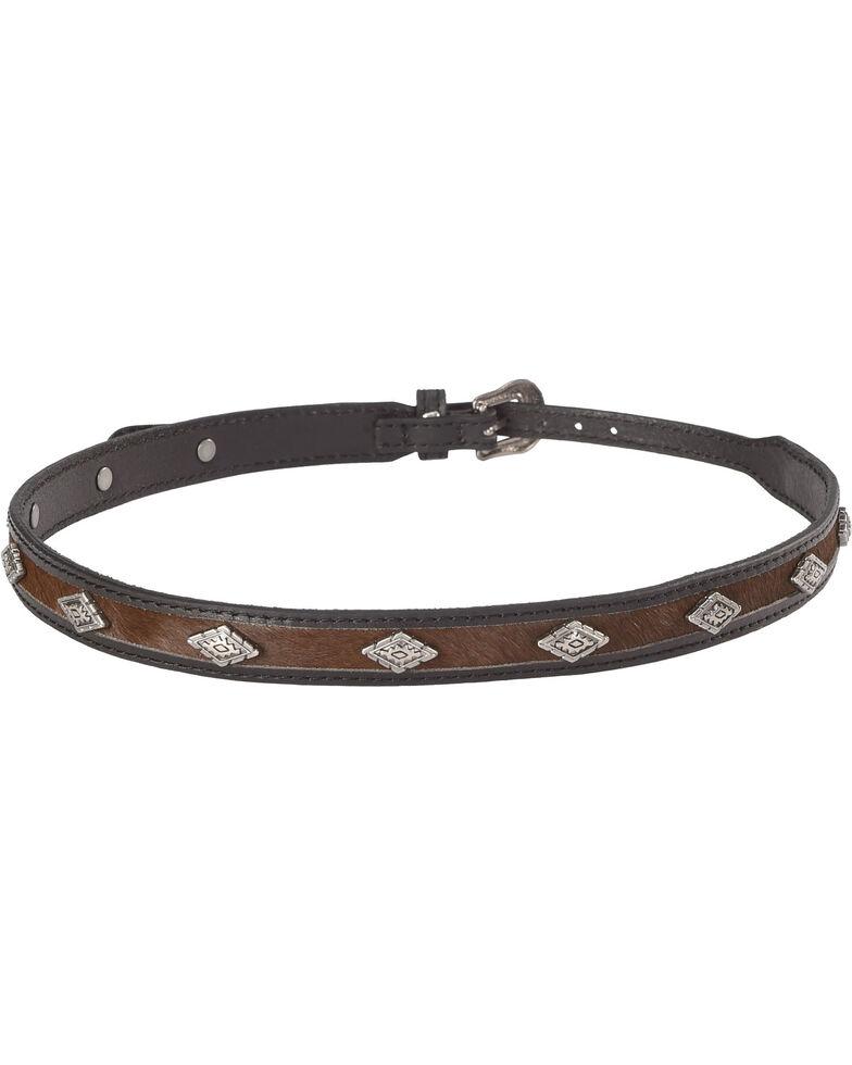 Cody James Diamond Studded Horsehair Hat Band, Black/brown, hi-res