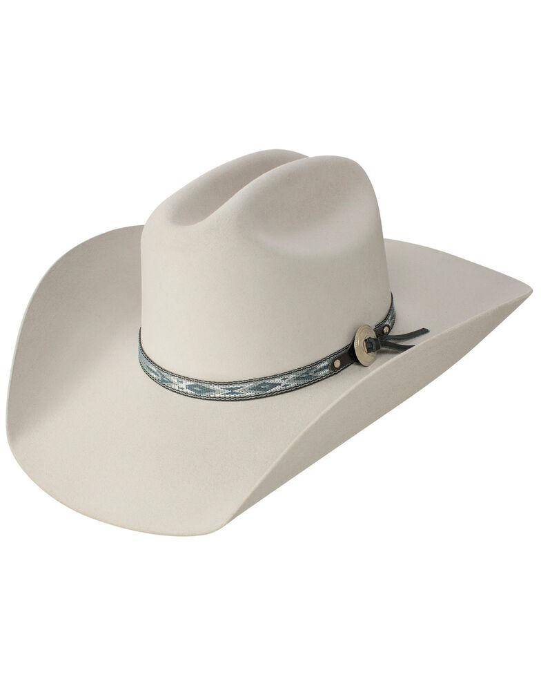 Stetson Men's Silver Fox 6X Felt Cowboy Hat, Light Grey, hi-res