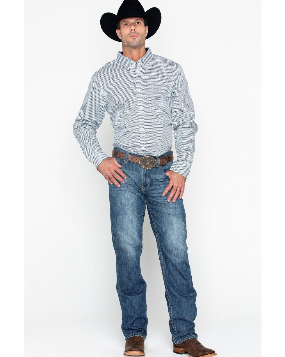 Cody Core Men's Geo Print Long Sleeve Burdock Shirt , White, hi-res