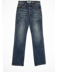 Wrangler Retro Boys' Travis Slim Straight Jeans , Blue, hi-res