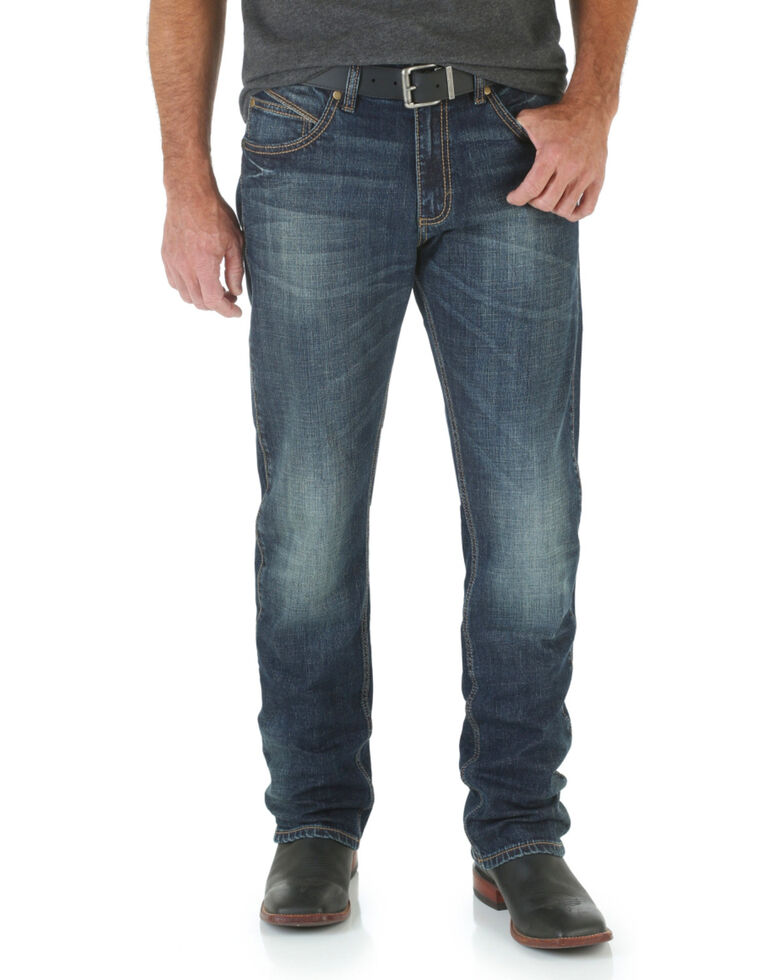 729f389f Zoomed Image Wrangler Retro Men's Limited Edition Slim Straight Jeans, Denim,  hi-res