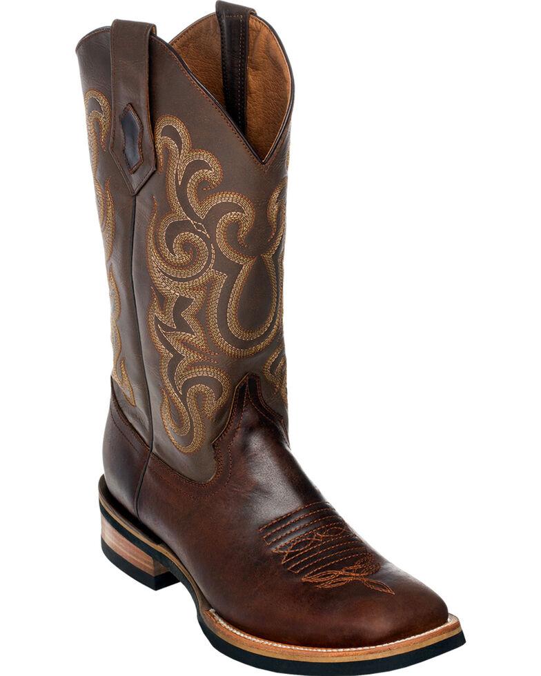 Ferrini Men's Chocolate Maverick Cowboy Boots - Square Toe, Chocolate, hi-res